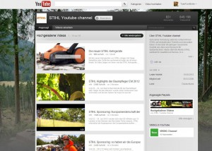 Screenshot: YouTube Channel - Profil STIHL