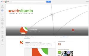 Screenshot: : neues layout google+ profil und unternehmensseite