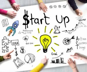 Zeichnung zum Thema StartUps